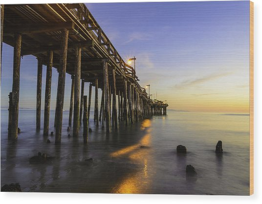 The Capitola Pier Wood Print