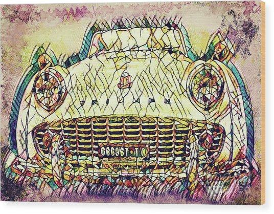 The Car Wood Print