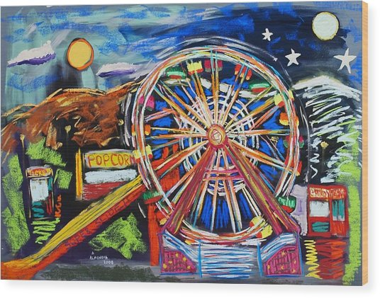 The Carnival Concoction Wood Print by Albert  Almondia