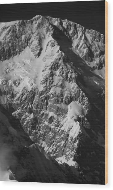 The Cassin Ridge On Denali Wood Print by Alasdair Turner
