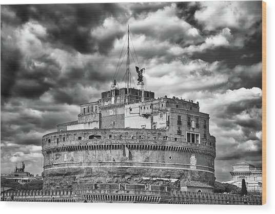 The Castle Of Sant'angelo In Rome Wood Print