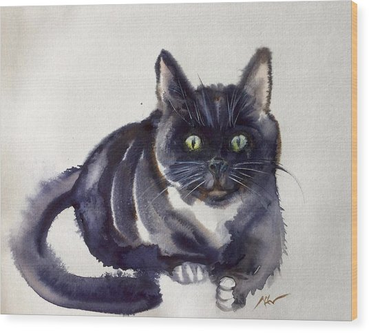 The Cat 8 Wood Print