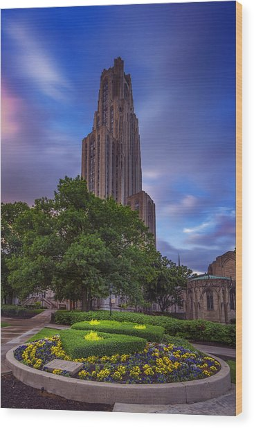 The Cathedral Of Learning Wood Print