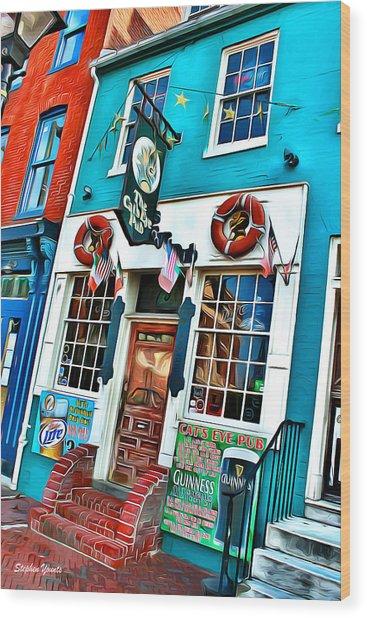 The Cat's Eye Pub Wood Print