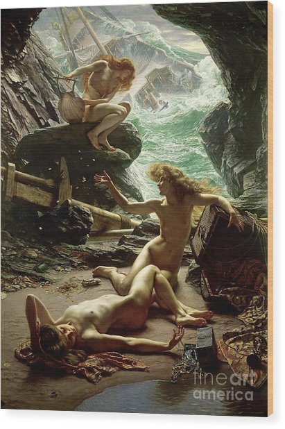 The Cave Of The Storm Nymphs Wood Print