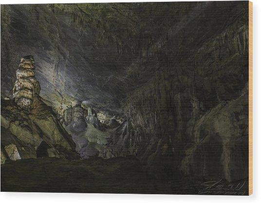 The Cavern Wood Print