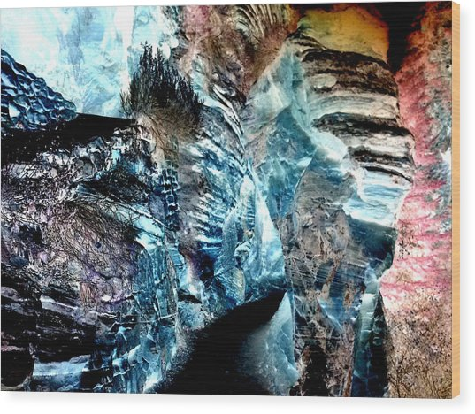 The Caves Of Q'th Wood Print