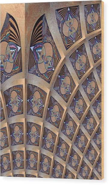 The Ceiling Wood Print by Ricky Kendall