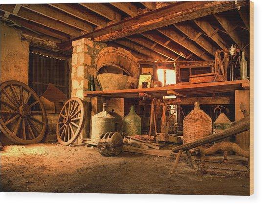 The Cellar Wood Print