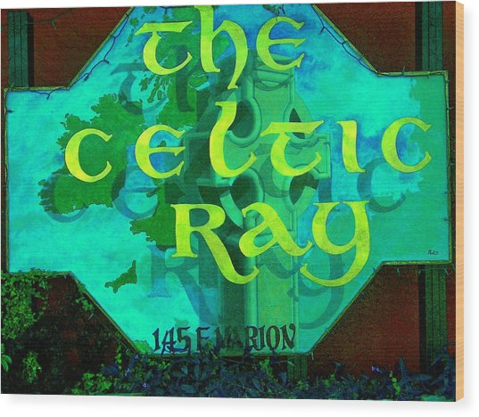 the Celtic Ray Wood Print by Charles Peck