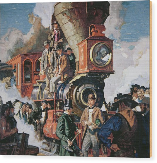 The Ceremony Of The Golden Spike On 10th May Wood Print