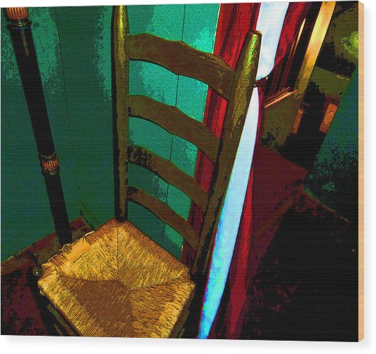 The Chair Wood Print by Mindy Newman