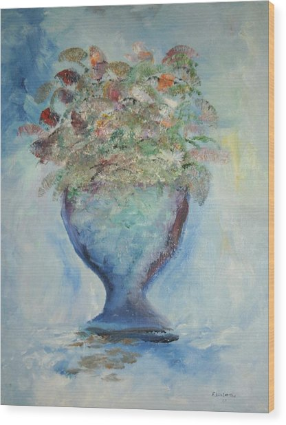The Chalise Vase Wood Print by Edward Wolverton