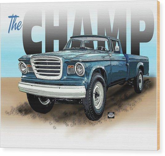 The Champ Wood Print