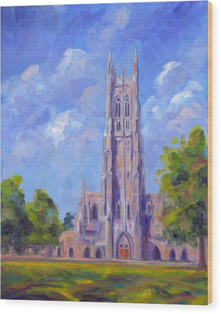 The Chapel At Duke University Wood Print by Jeff Pittman