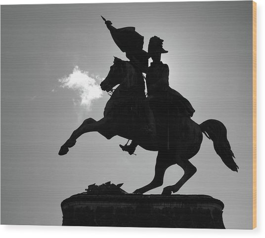 The Charging Horse Wood Print