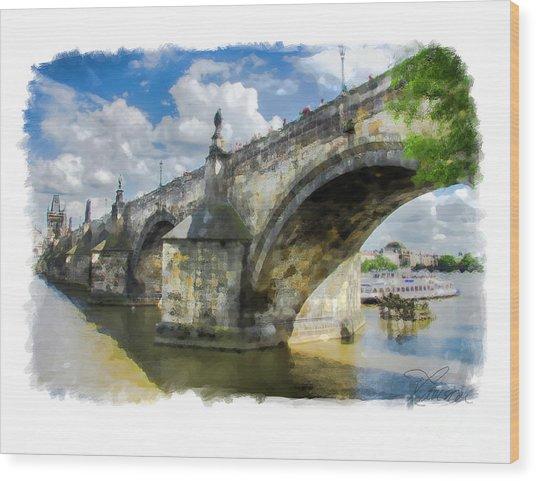 The Charles Bridge - Prague Wood Print