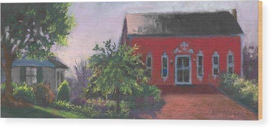 The Chateau Barn Wood Print by Terri  Meyer