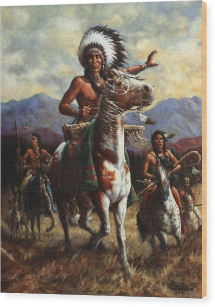 The Chief Wood Print