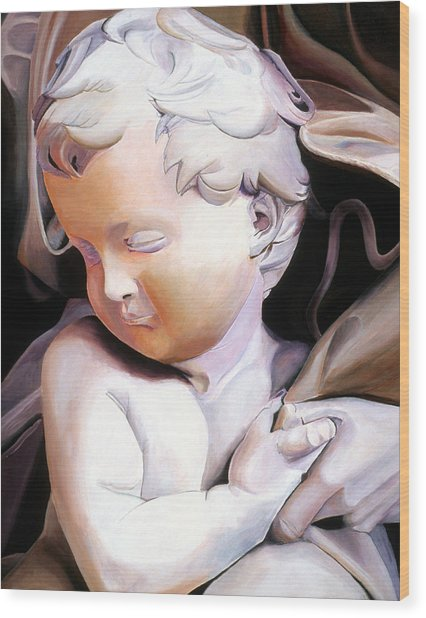 The Child From Michaelangelo Wood Print