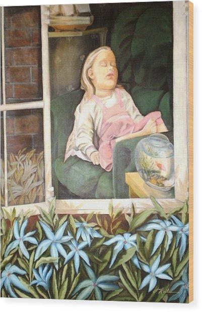 The Child Sleep - L'enfant Do Wood Print