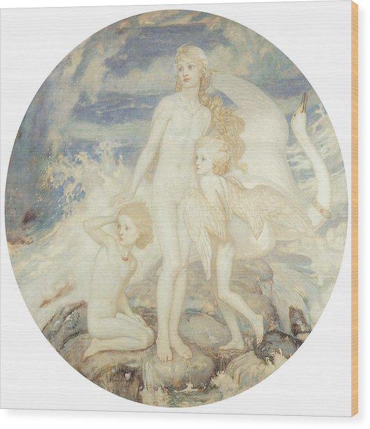 The Children Of Lir Wood Print by John Duncan