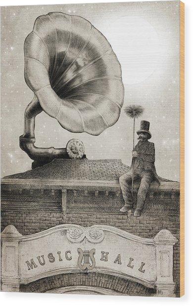 The Chimney Sweep Monochrome Wood Print