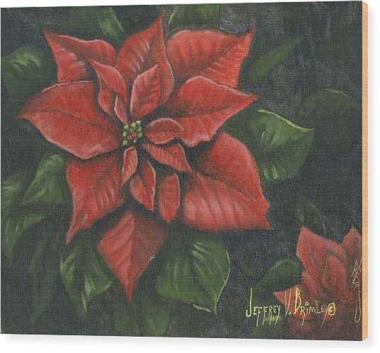 The Christmas Flower Wood Print