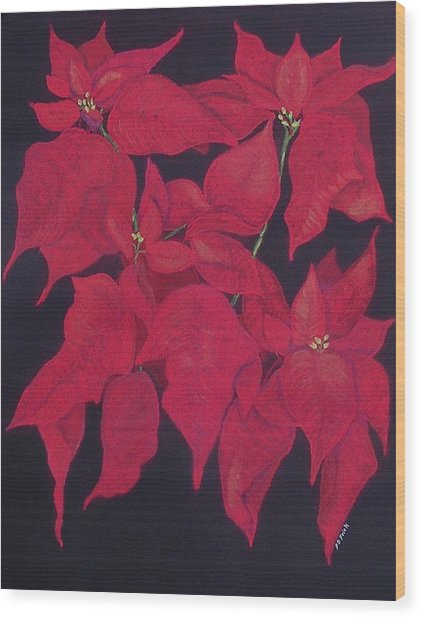 The Christmas Gift Wood Print by Diane Frick