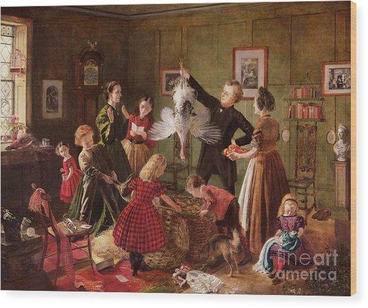The Christmas Hamper Wood Print