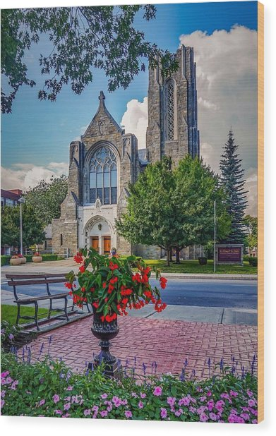 The Church In Summer Wood Print