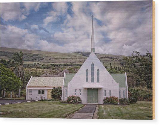 Wood Print featuring the photograph The Church by Jim Thompson