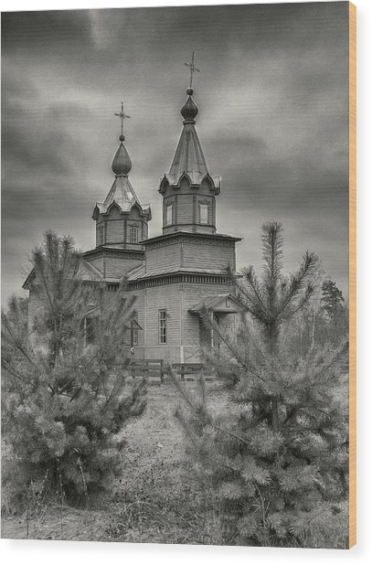 Wood Print featuring the photograph The Church Of The Savior. Danychi, 2016. by Andriy Maykovskyi