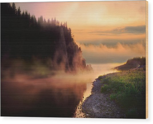 The Chusovaya River Wood Print