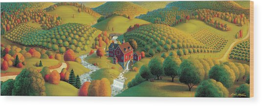 The Cider Mill Wood Print
