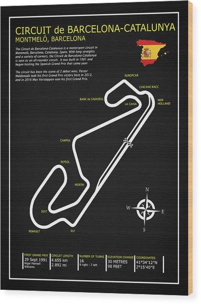 The Circuit De Barcelona Catalunya Wood Print