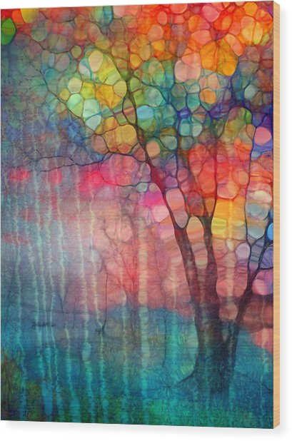 The Circus Tree Wood Print