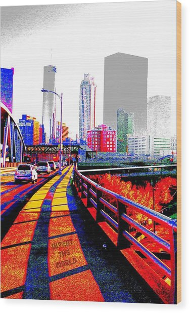 The City  Wood Print