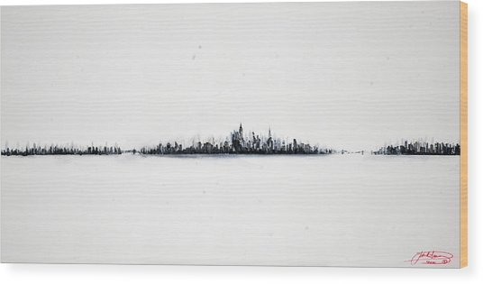 The City New York Wood Print