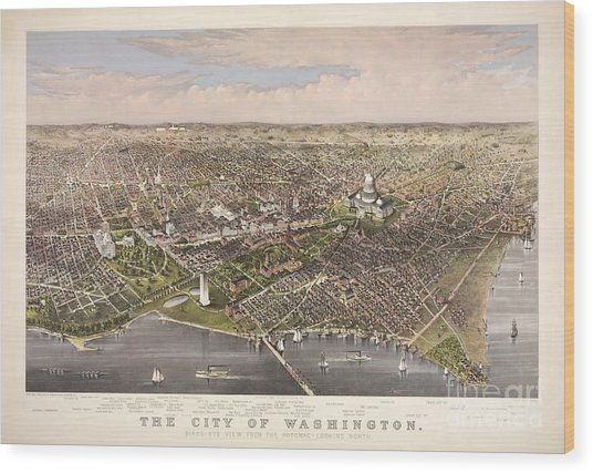 The City Of Washington Wood Print