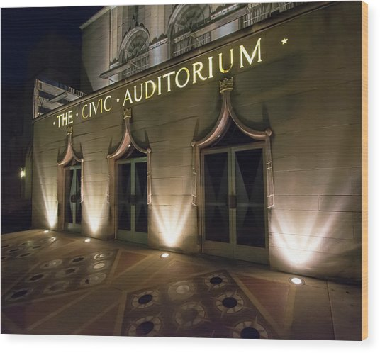 The Civic Auditorium Wood Print