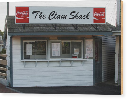 The Clam Shack - Kennebunkport Maine Wood Print