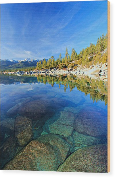 The Clarity Of Lake Tahoe Wood Print