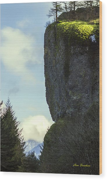 The Cliff Signed Wood Print