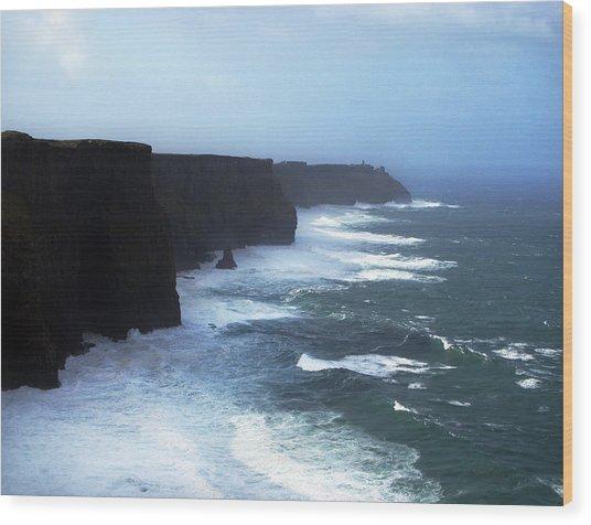The Cliffs Of Mohr Ireland Wood Print by Richard Singleton