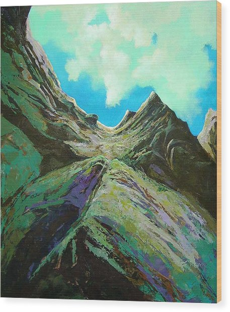 The Climb Wood Print by Dale  Witherow