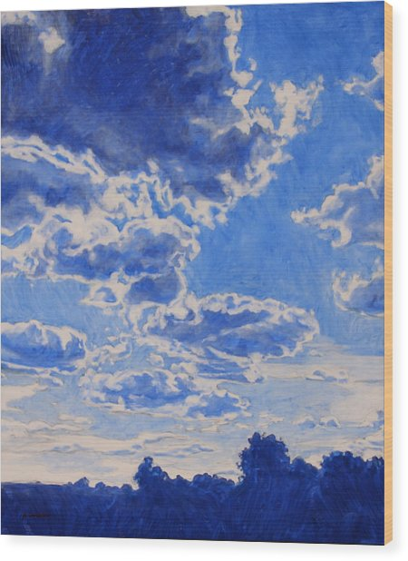 The Cloud Procession Wood Print