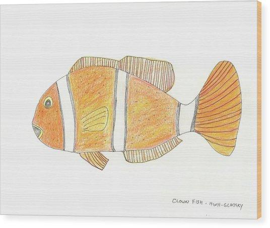 The Clown Fish Wood Print
