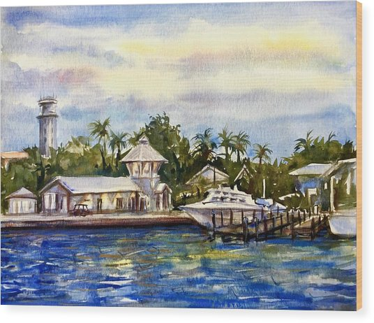 The Coast Of Nassau Wood Print