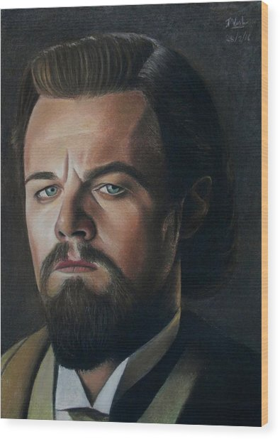 The Cold Expression - Leonardo Dicaprio Wood Print